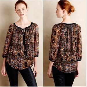 Meadow rue anthro - mayra paisley blouse top
